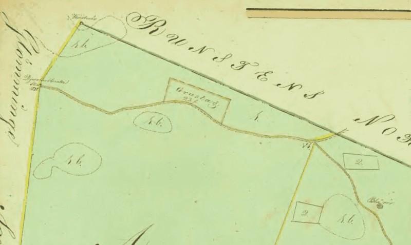 Delningskarta 1811 Blårör utsnitt